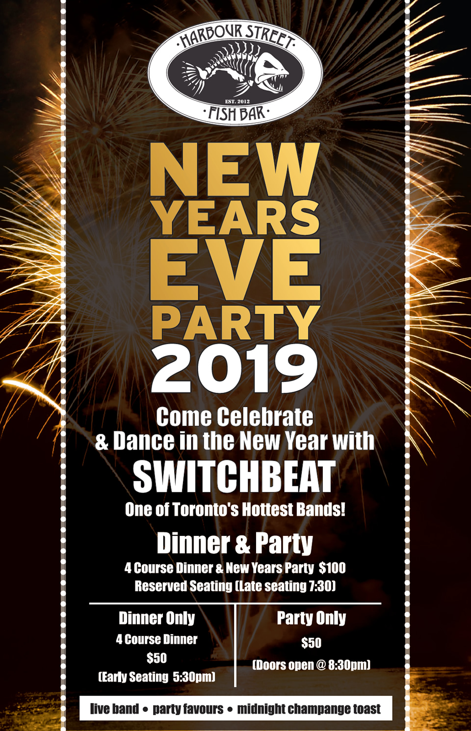 NEW YEAR'S EVE PARTY – Harbour Street Fish Bar